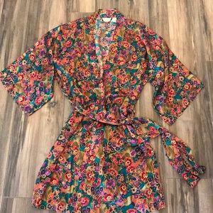 Vintage Victoria Secret Silk Robe OS